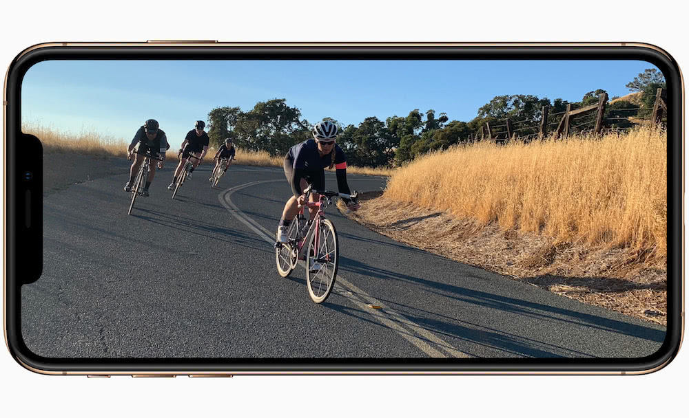 Apple iPhone Xs pantalla en modo apaisado