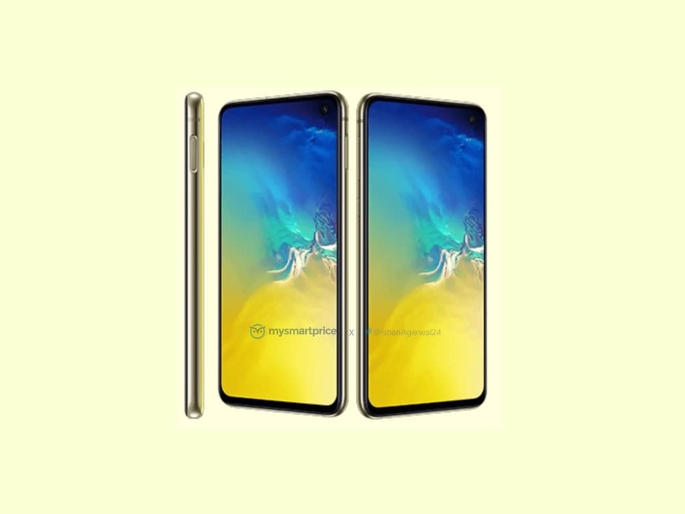 Así se vería el Samsung Galaxy S10e en color Canary Yellow